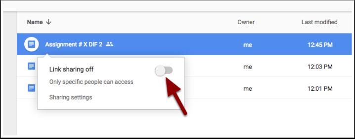 link-sharing-einstellen